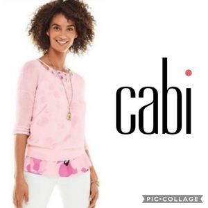Cabi Pink Gossamer Pullover Sweater Style 5139